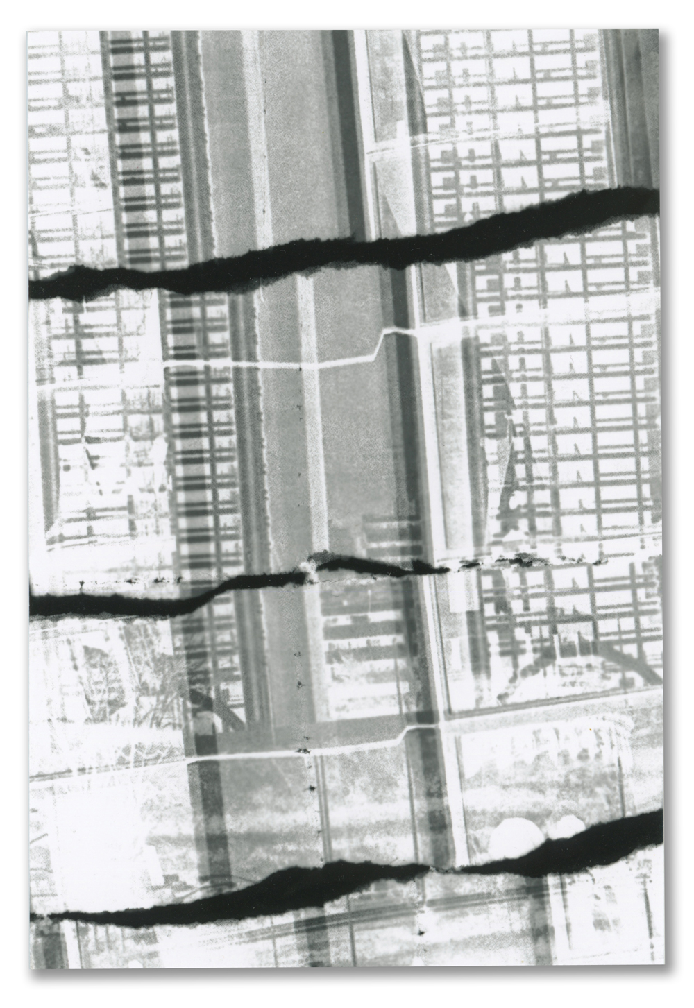 Ripping Building Photogram Postcard, 2012