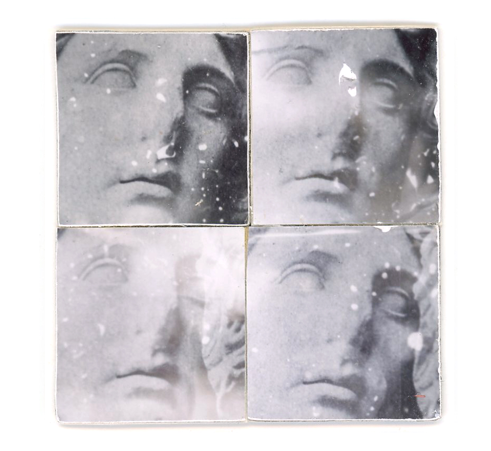 Greek Sculpture 4 Parts (Unique polaroid prints, created with Daylab Copy System & mounted on cardstock)