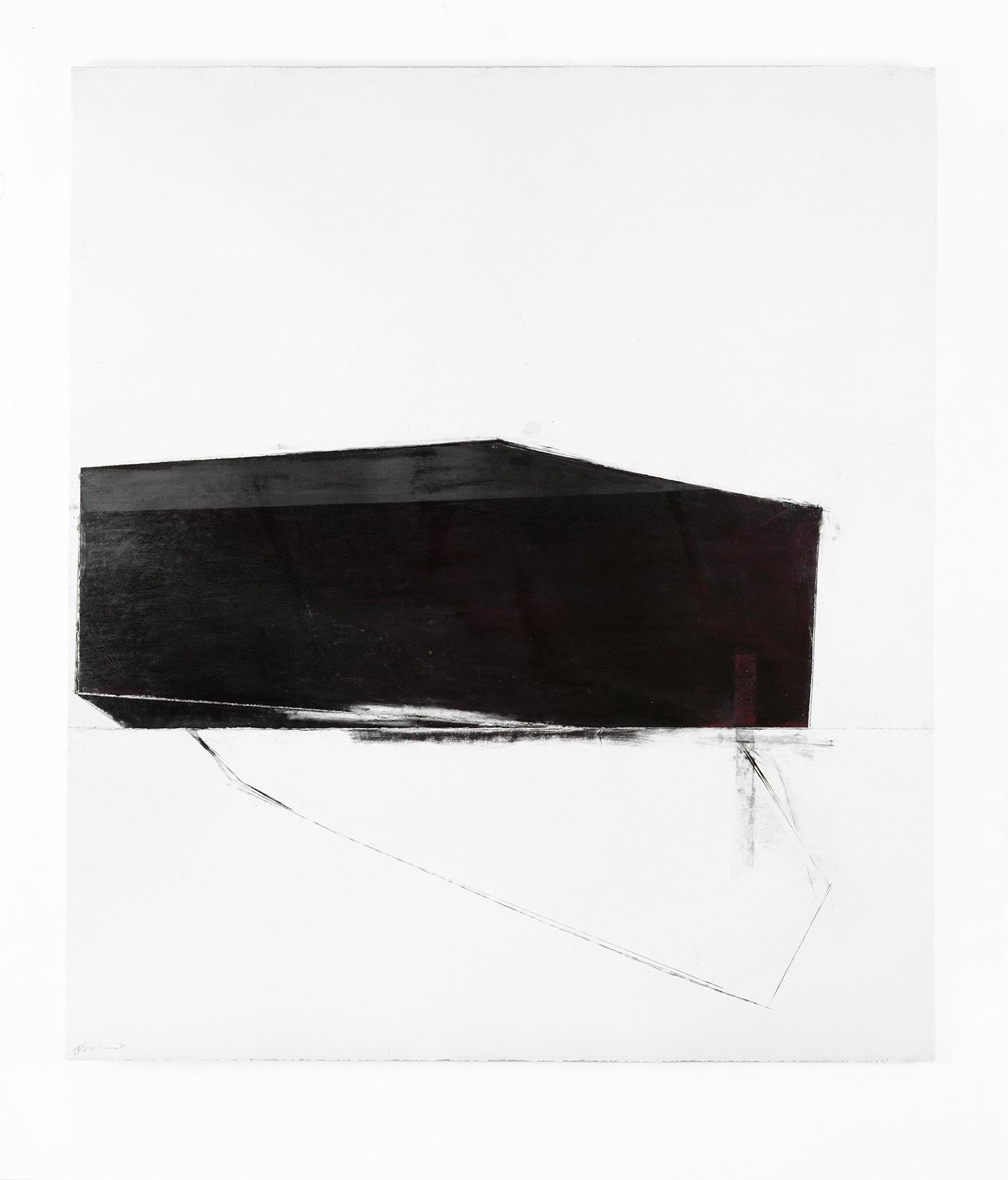 Malgré la nuit II  (1991)   Techniques mixes et papier collé sur papier Stonehenge, 145.5 x 127 cm, collection du Musée des beaux-arts du Canada. photo : Richard-Max Tremblay