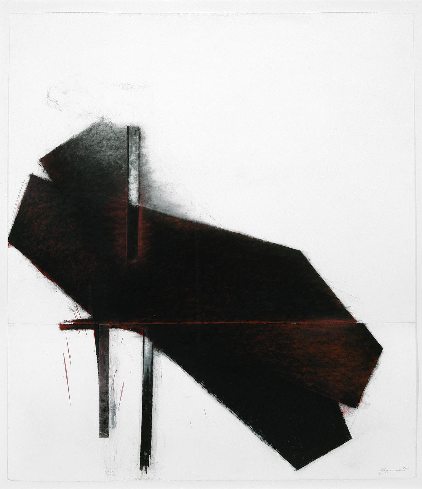 À Odilon Redon  (1992)   Techniques mixes et papier collé sur papier Stonehenge, 145.5 x 127 cm, collection privée. photo : Richard-Max Tremblay