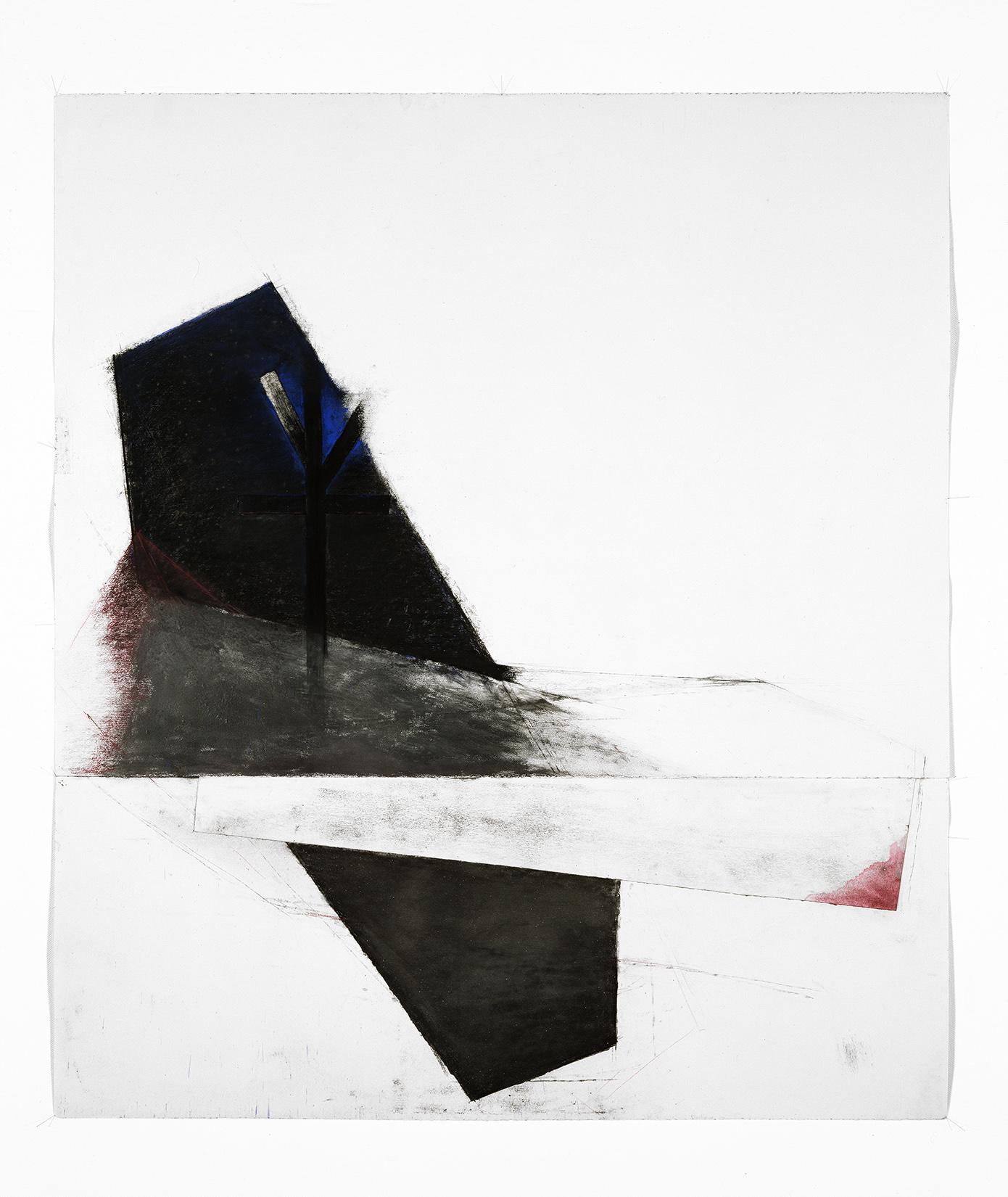 Sans titre  (1992)   Techniques mixes et papier collé sur papier Stonehenge, 145.5 x 127 cm, collection du Musée des beaux-arts de Québec. photo : Richard-Max Tremblay