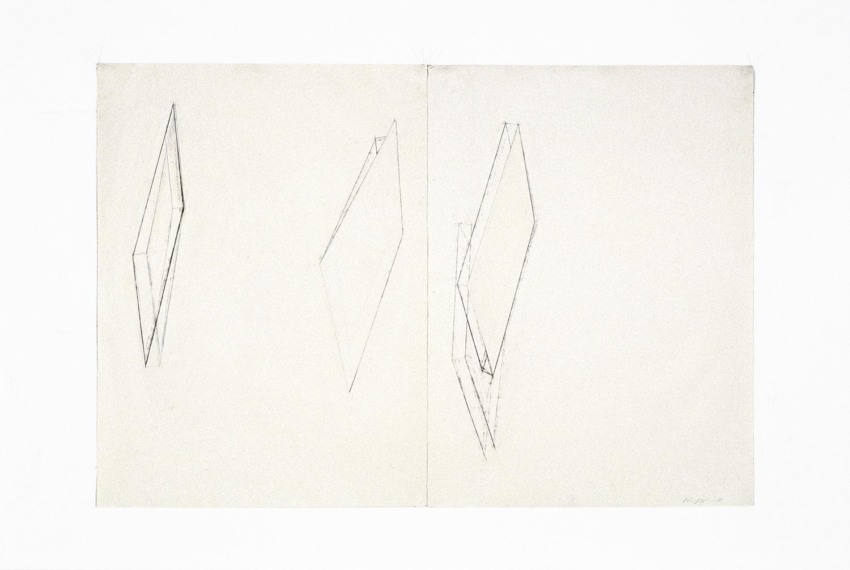 Sans titre  (1981)   Techniques mixes et papier collé sur papier Stonehenge, 76 x 113 cm, collection de l'artiste. photo : Richard-Max Tremblay