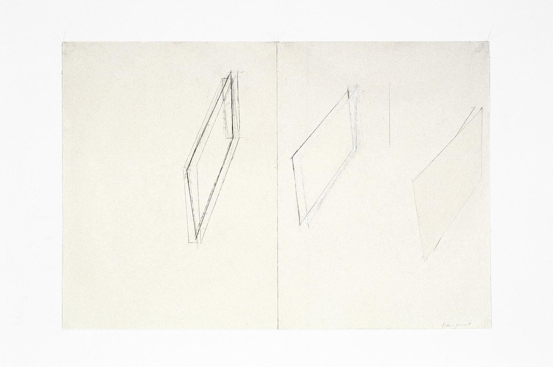 Sans titre  (1981)   Techniques mixes et papier collé sur papier Stonehenge, 76 x 113 cm. photo : Richard-Max Tremblay