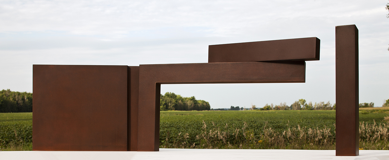 Étude #7  (2011)   Acier corten, collection de l'artiste. photo : Michel Dubreuil