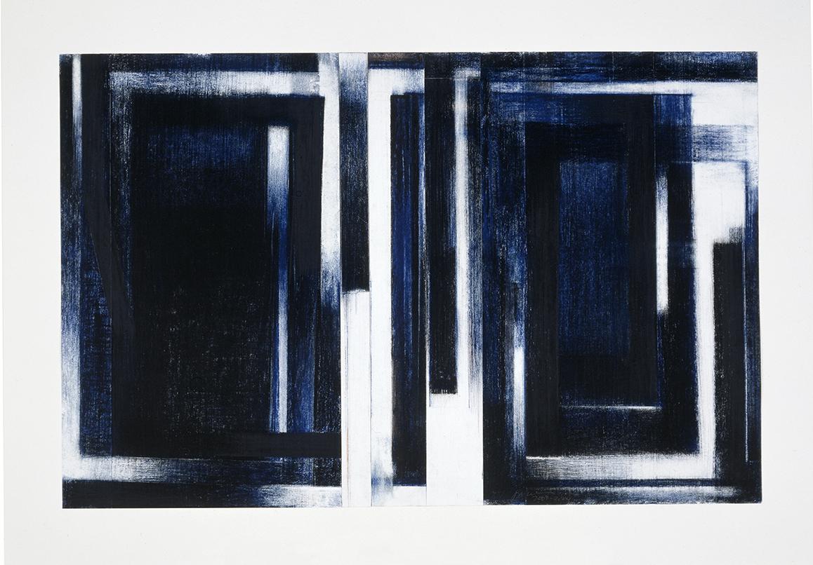 Birfucation #14  (2003)   Fusain et pastel, 45 x 70 cm, collection de l'artiste. photo : Richard-Max Tremblay