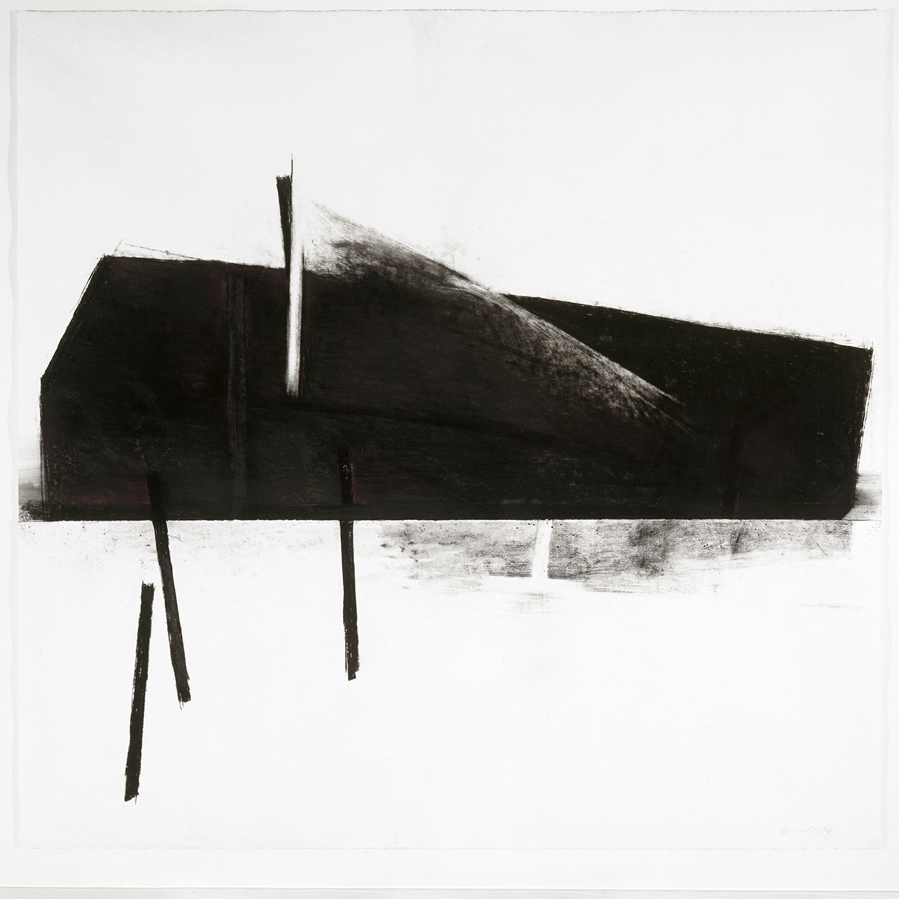 Malgré la nuit VIII  (1990 - 1991)   Fusain, pastel et graphite, 145 x 127 cm. photo : Richard-Max Tremblay