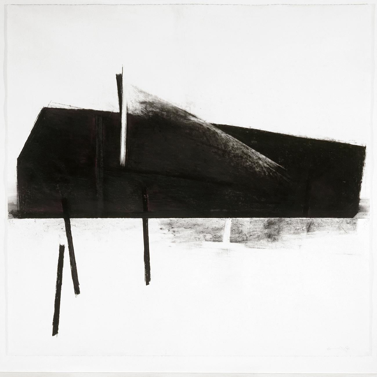 Malgré la nuit VIII  (1990 - 1991)   Fusain, pastel et graphite, 145 x 127 cm. photo : Richard-Max Tremblay