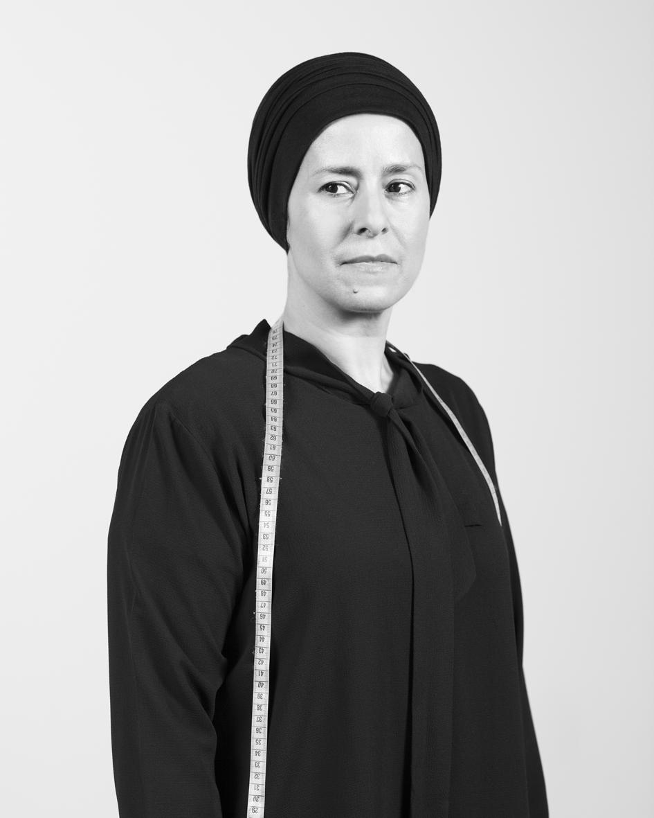 Rachida Lazrak  coordinates Ateliers Mulieris, a sewing workshop  for socio-occupational integration.