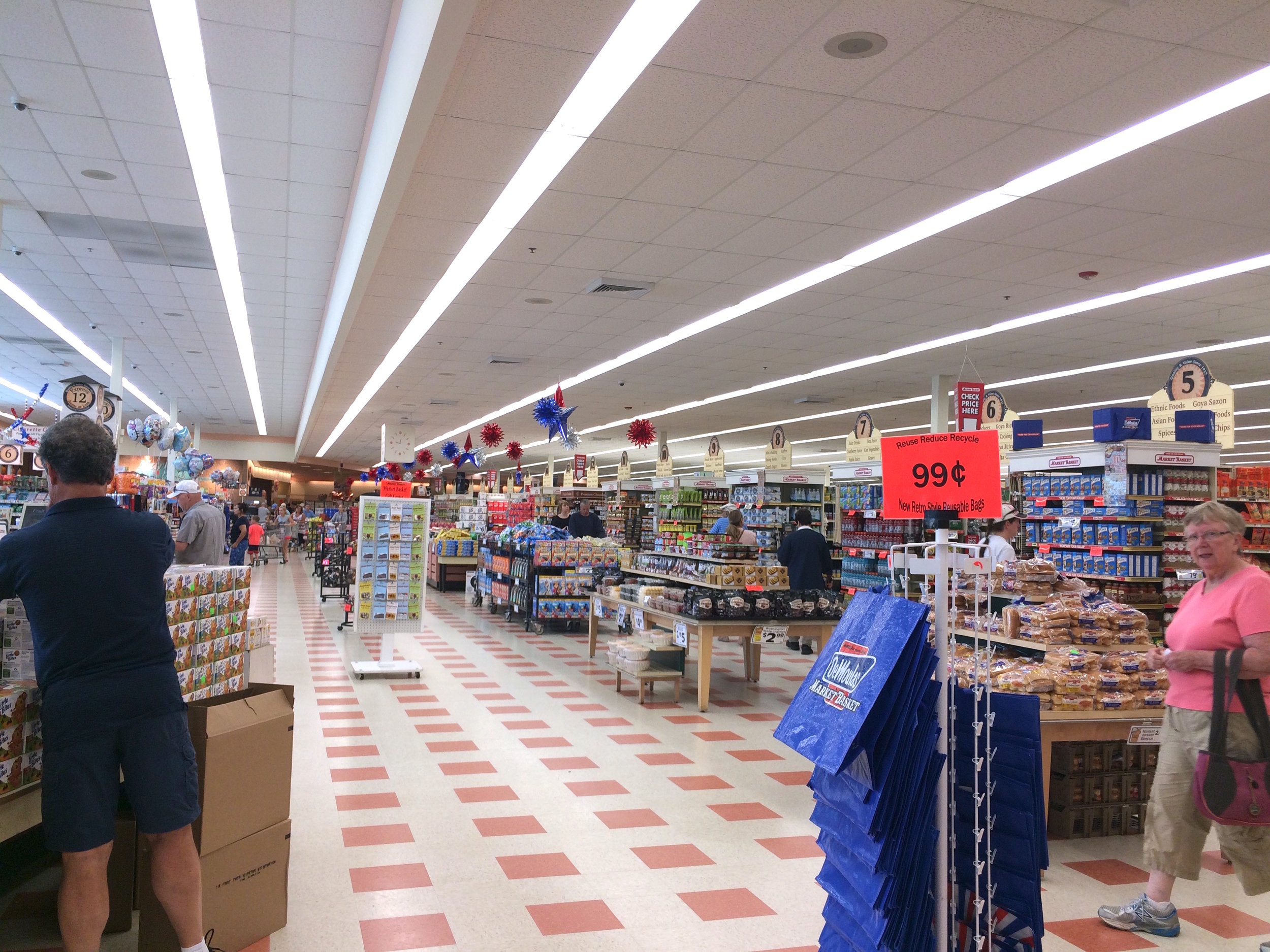 A typical Market Basket store.