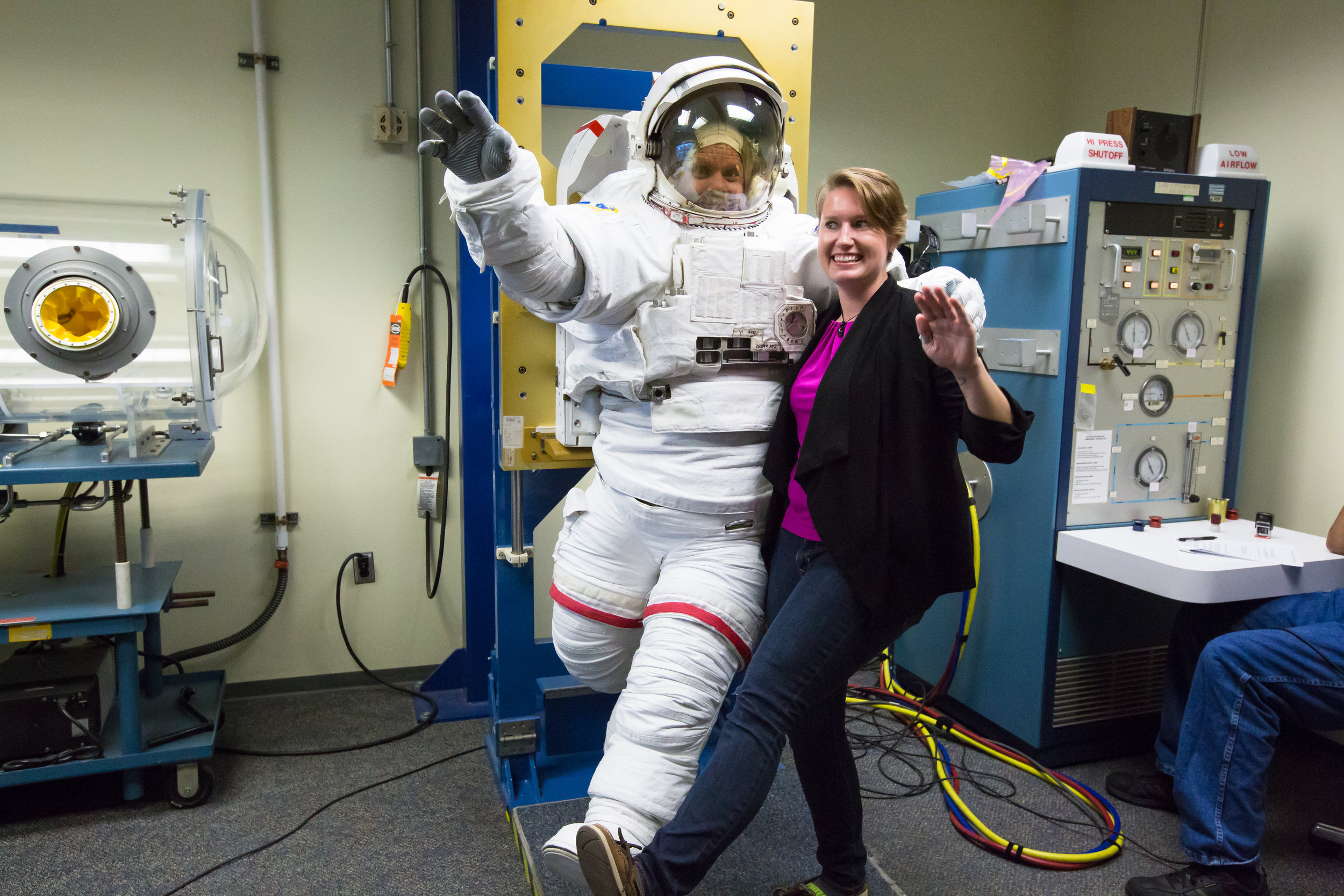 Testing spacesuits at NBL