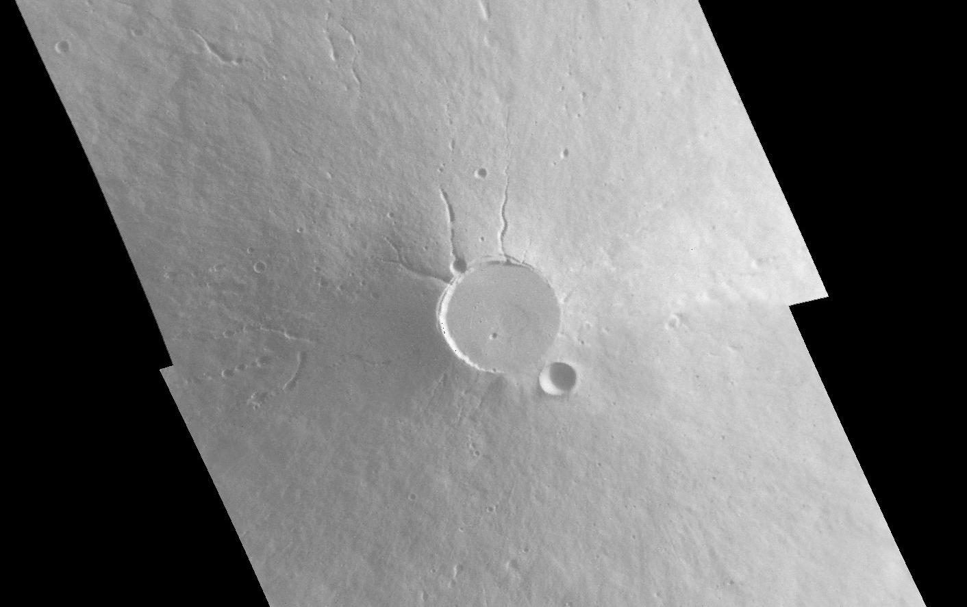 Mariner 9 view of Elysium Mons. Image credit: NASA