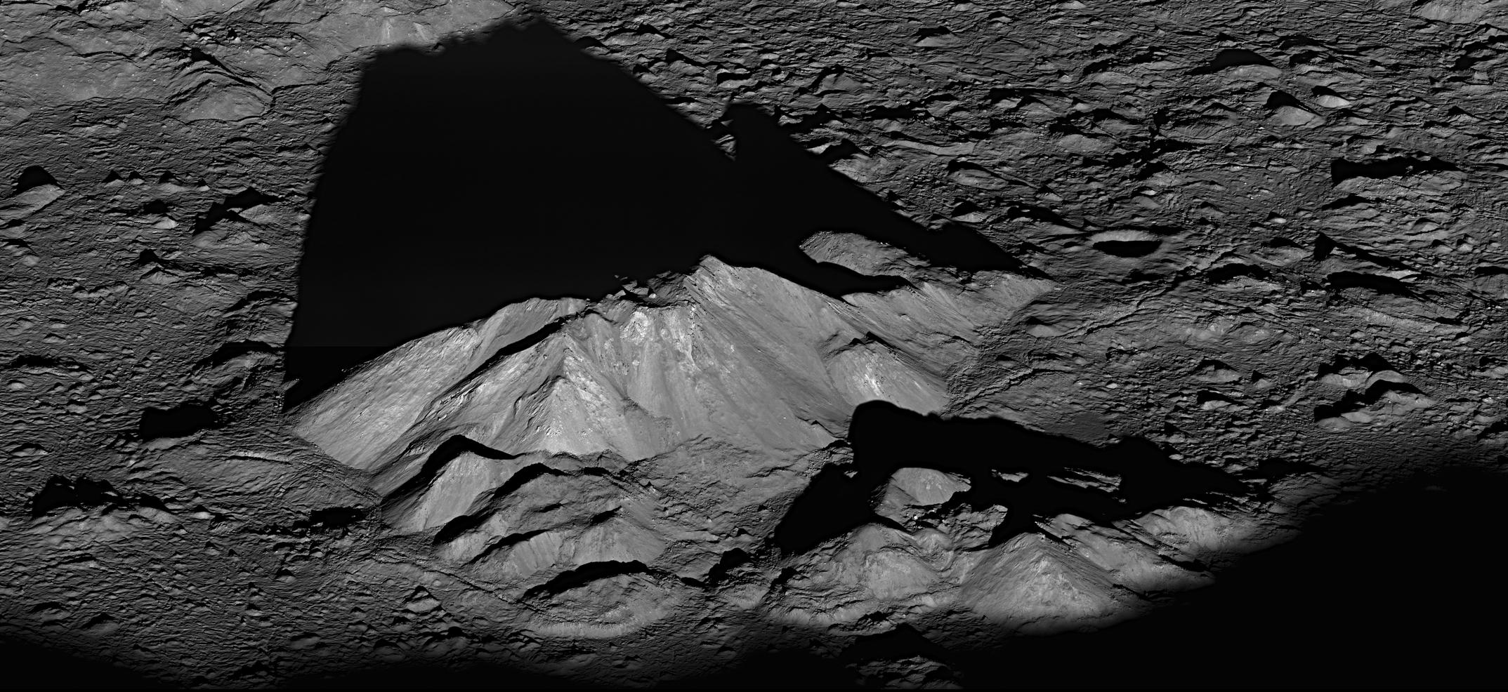 Lunar Reconnaissance Orbiter's View of Tycho Central Peak on the Earth's moon. Image credit: NASA.