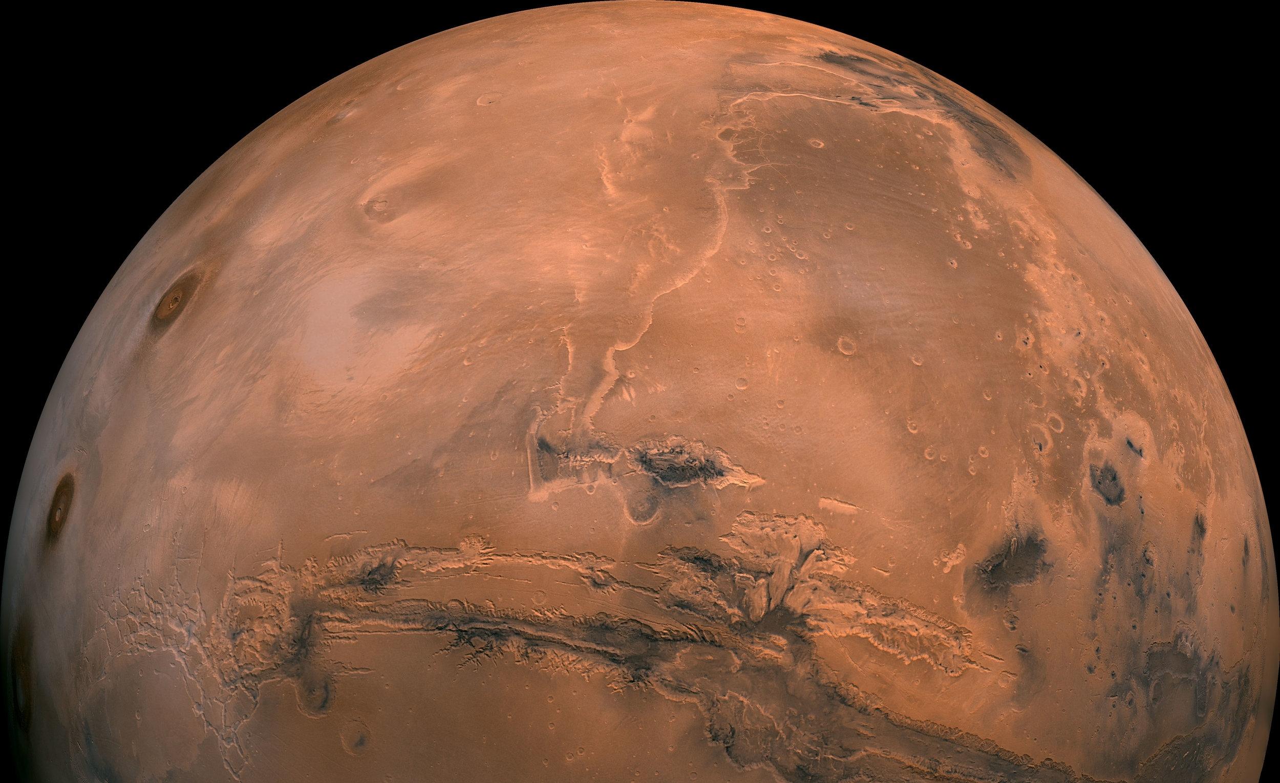Mars. Image credit: NASA/JPL.