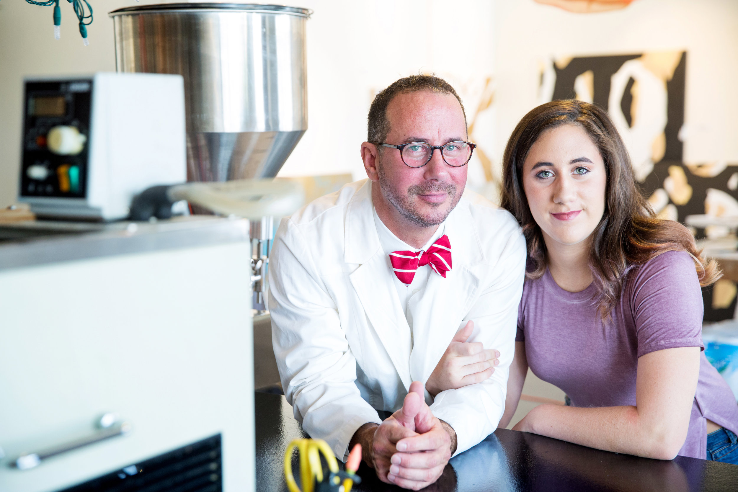 Boyce Clark with his daughter Alden. Photo compliments of Lubricity Labs.