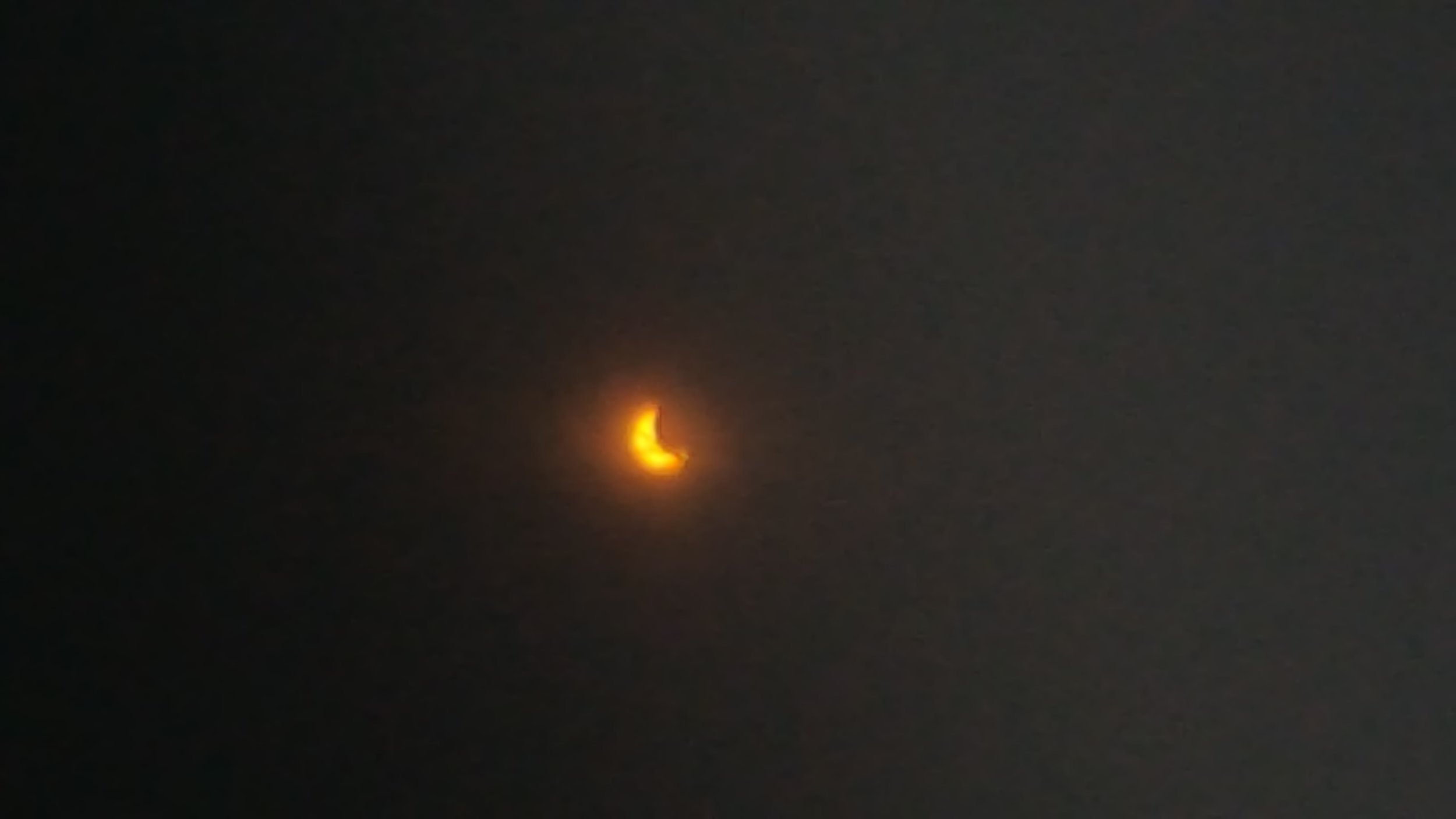 Photo of Katie Nugent's view of the solar eclipse 2017!