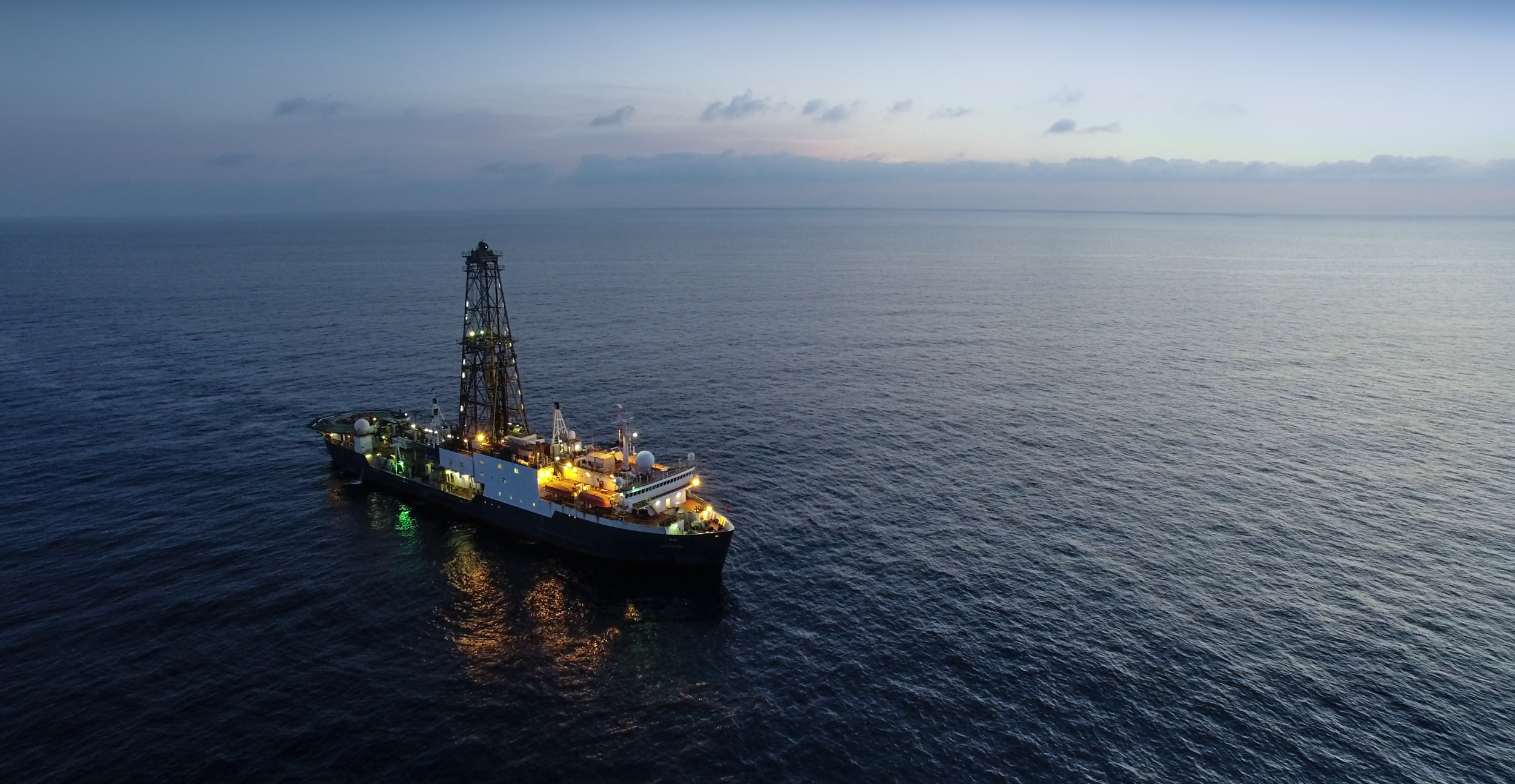 JOIDES sky view.Photo credit: Shuhao Xie, IODP.