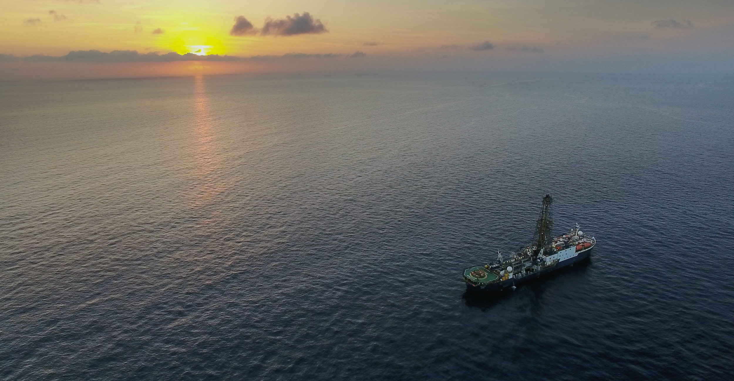 JOIDES sky view. Photo credit: Shuhao Xie, IODP.