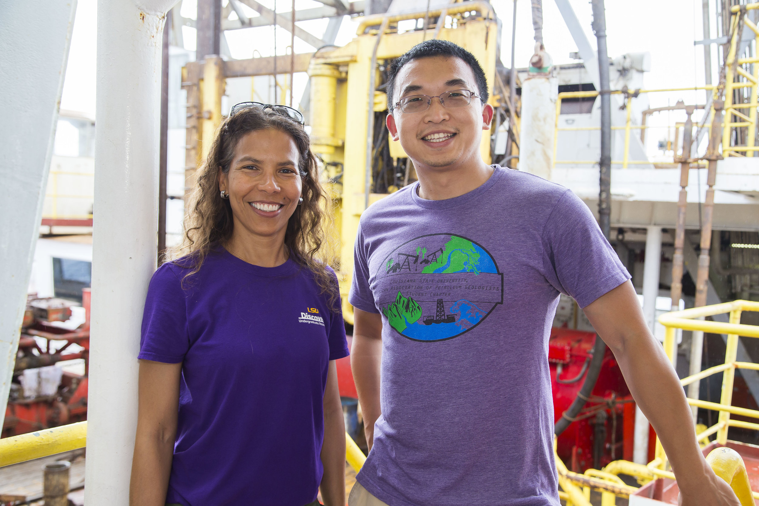 Chang Liu and Dr. Patricia Persaud. Photo credit:Tim Fulton, IODP.