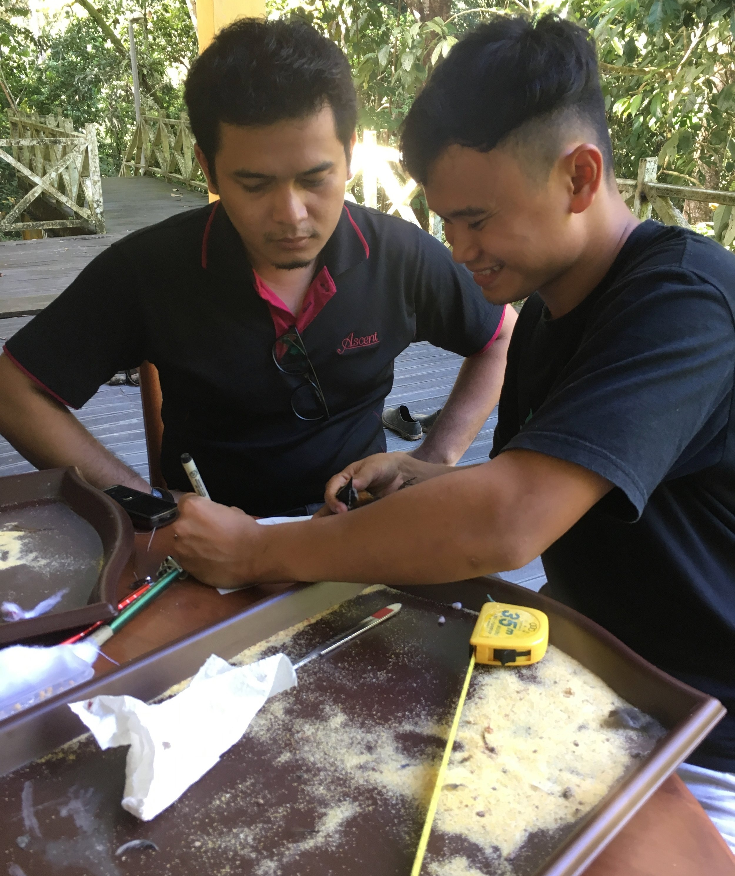 Locals get a lesson in how to preserve birds for museum collections during an LSU Museum of Natural Science field expedition. Photo via Vivien Chua.