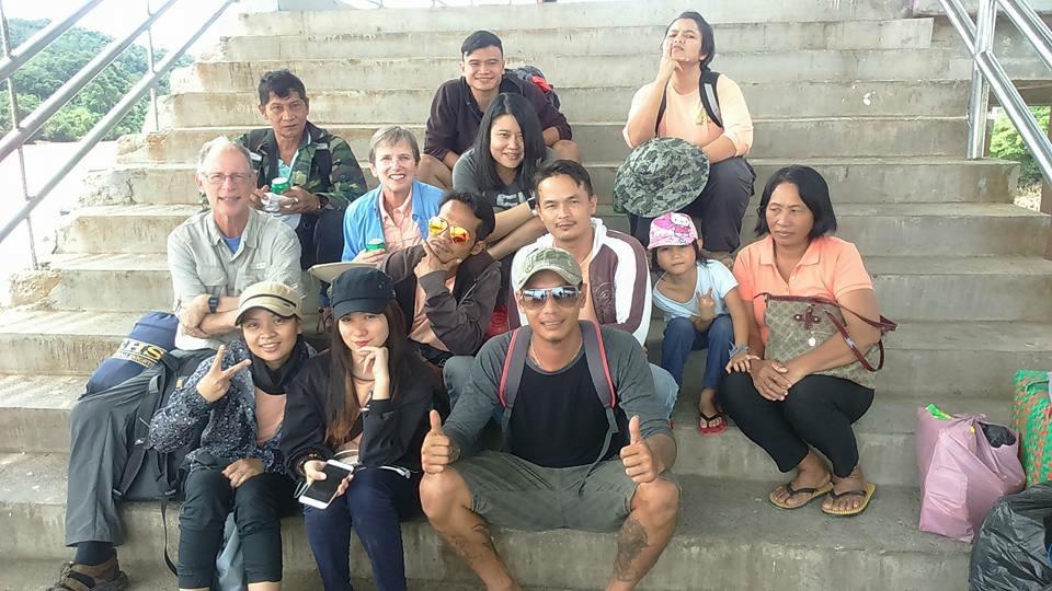 LSU researchers with locals in Borneo