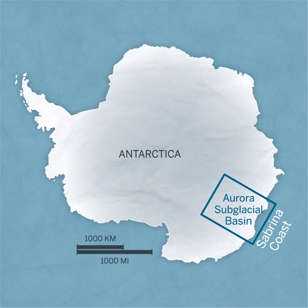 Researchers including Sophie Warny at LSU recently conducted the first-ever oceanographic survey of East Antarctica's Sabrina Coast. The glaciers in this region may be particularly susceptible to climate change because they flow from the Aurora Basin, a region of East Antarctica that mostly lies below sea level. Credit: The University of Texas at Austin Jackson School of Geosciences.