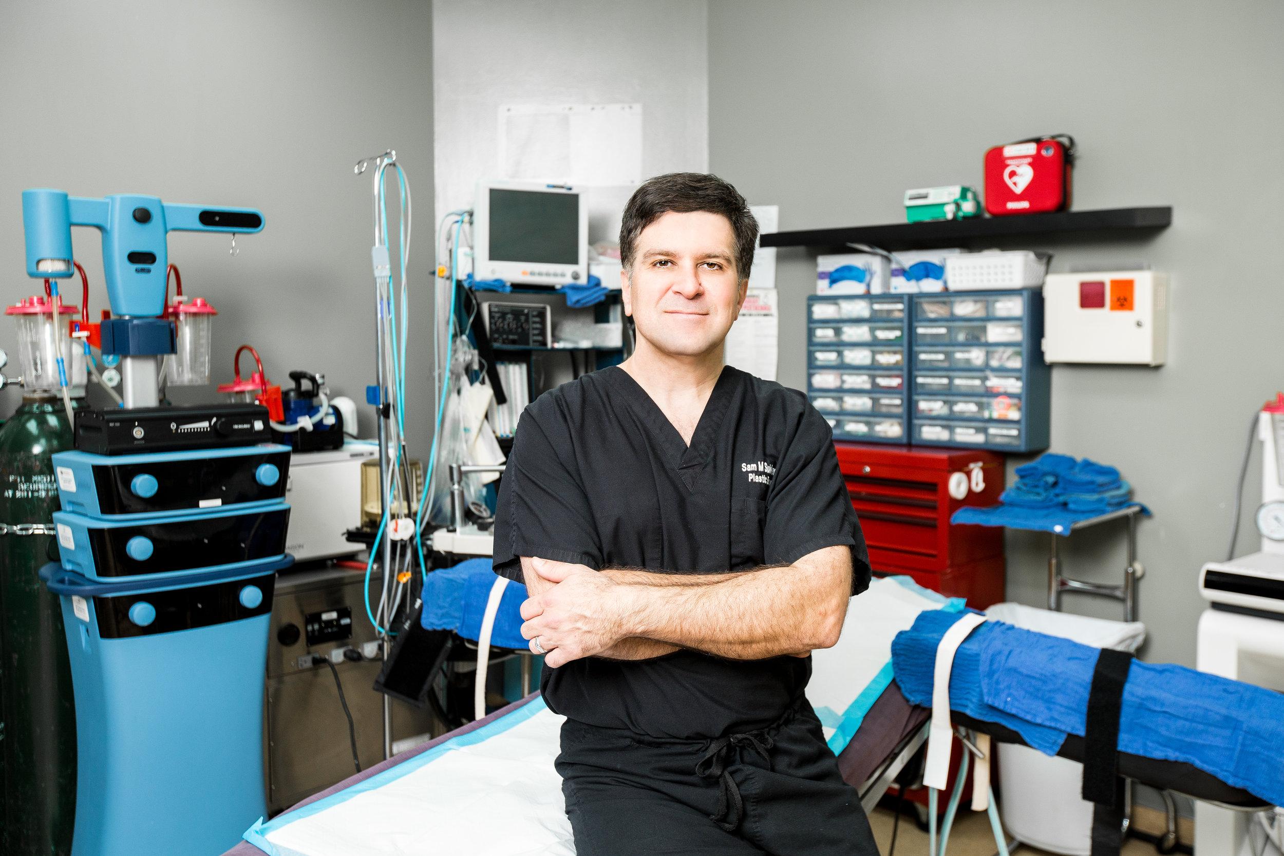 Dr. Sam Sukkar in his OR. Credit: Sam Sukkar.