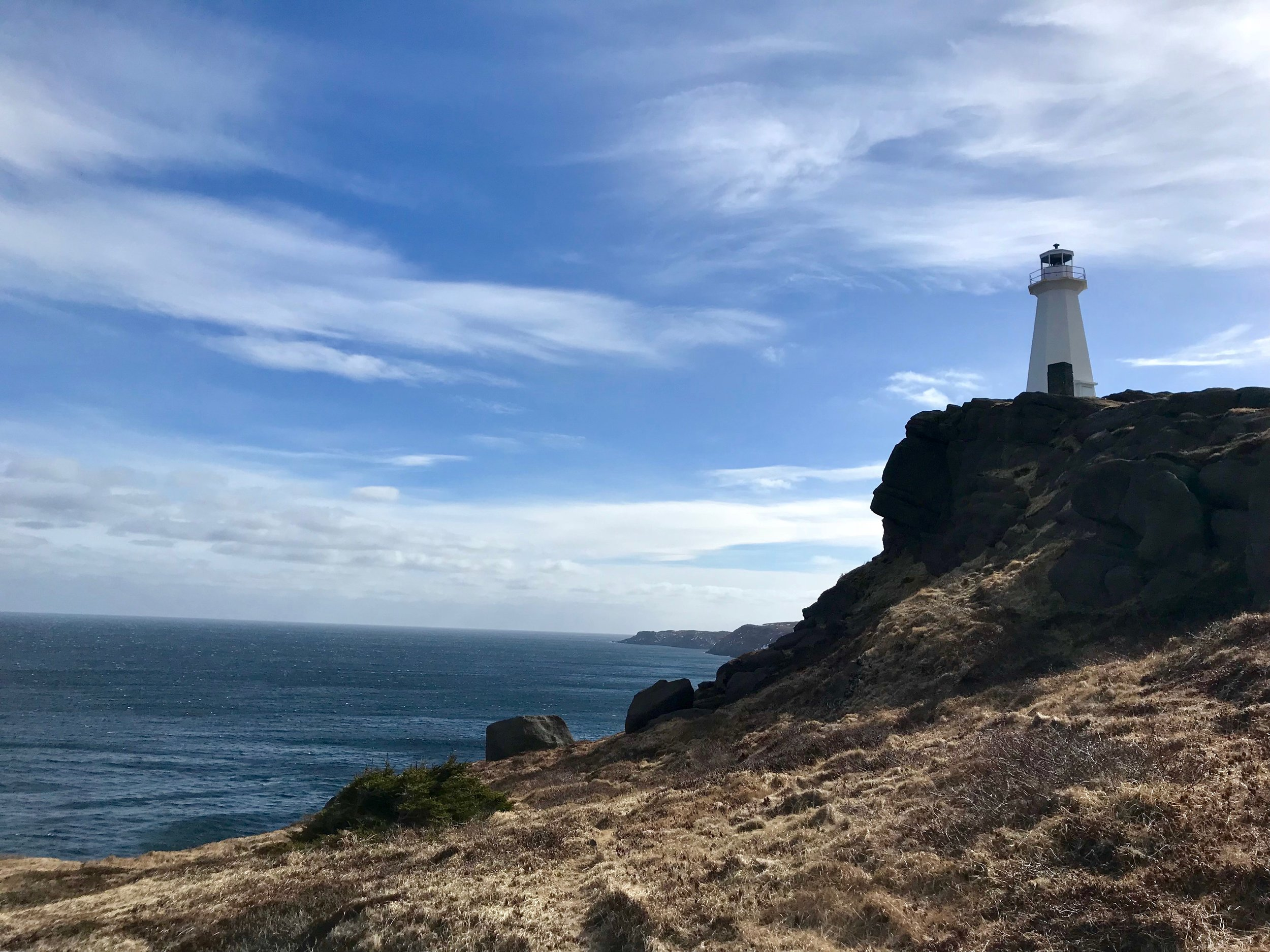 The light house at Cape Spear. The particular location is known as the eastern-most point in North America. Credit: Anna Lucchesi