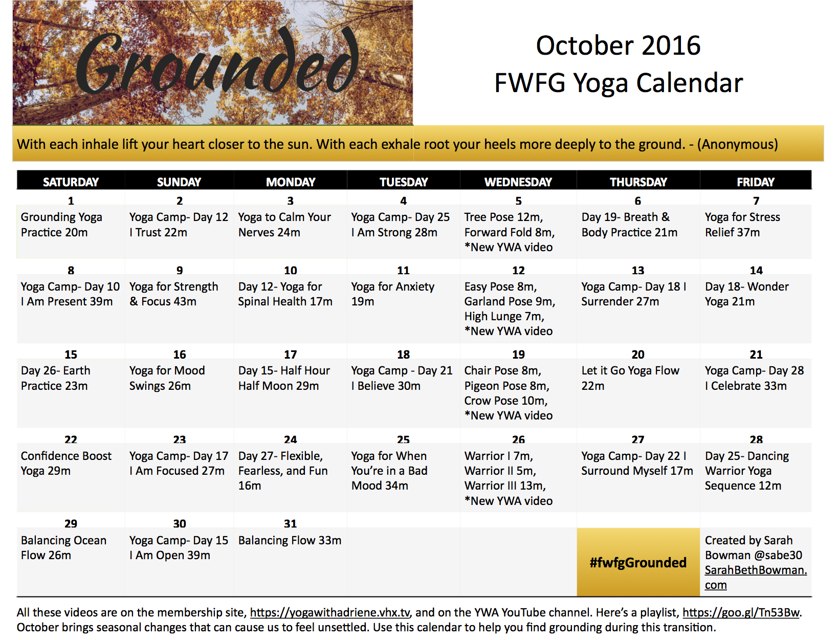 Click on the photo to download a PDF of the calendar.