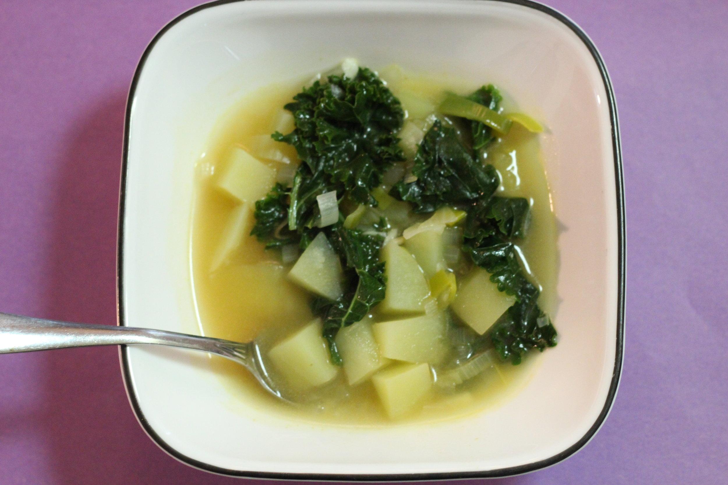 Kale and Leek Potato Soup