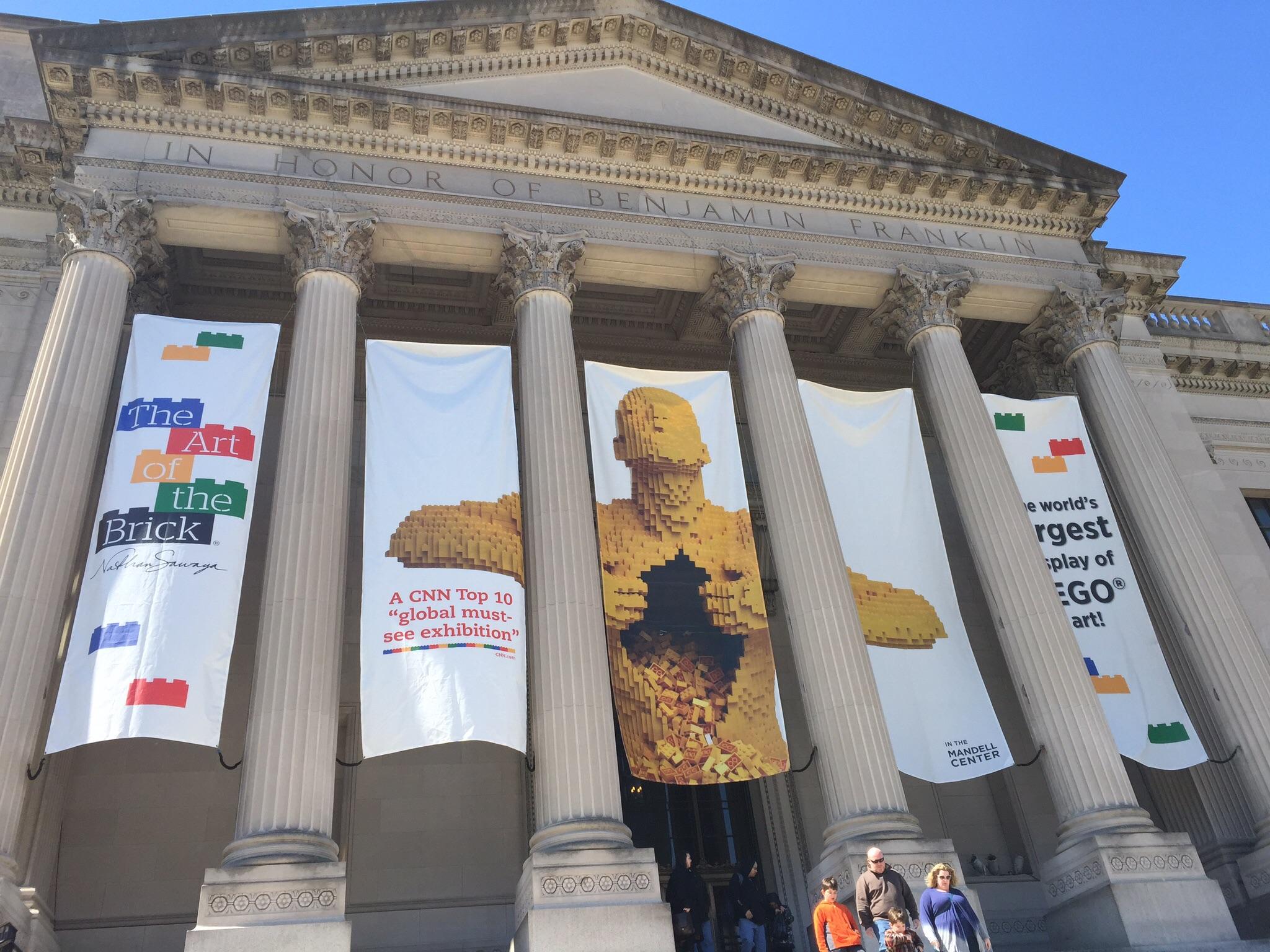 """Art of the Brick"" Exhibit at the Franklin Institute in Philadelphia, PA"