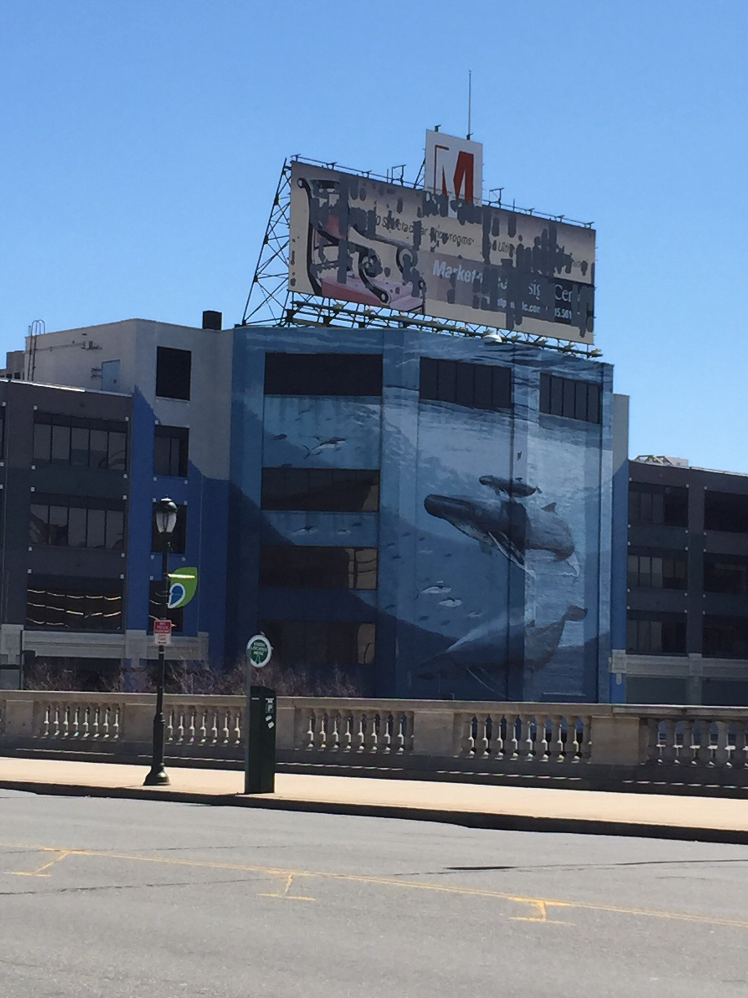 Mural of whales