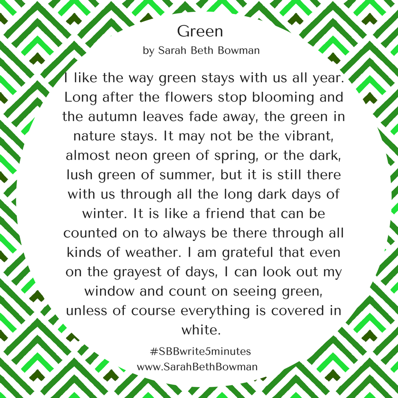 Day 12 : green