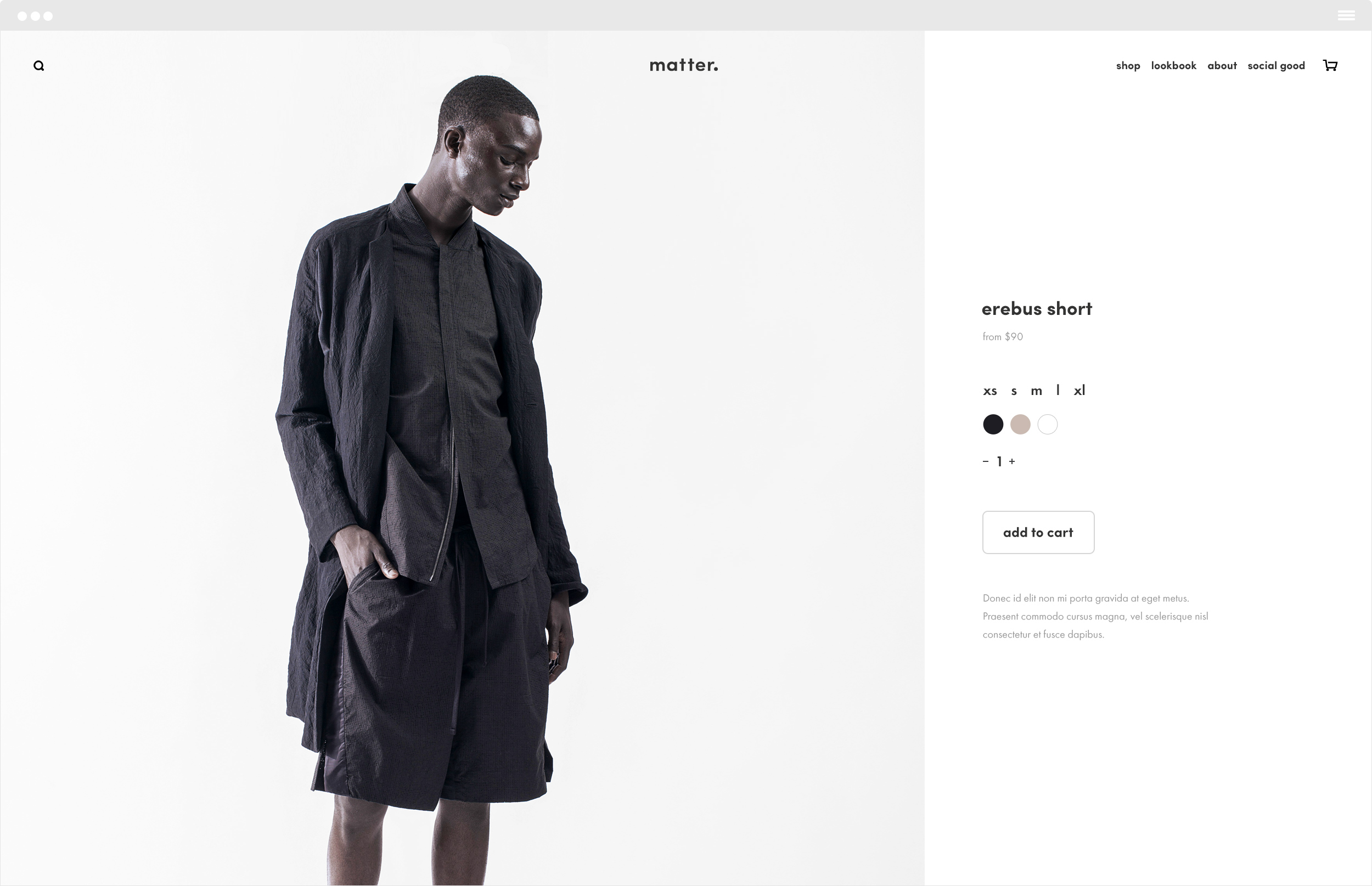 Product item page and UI design for their commerce web site