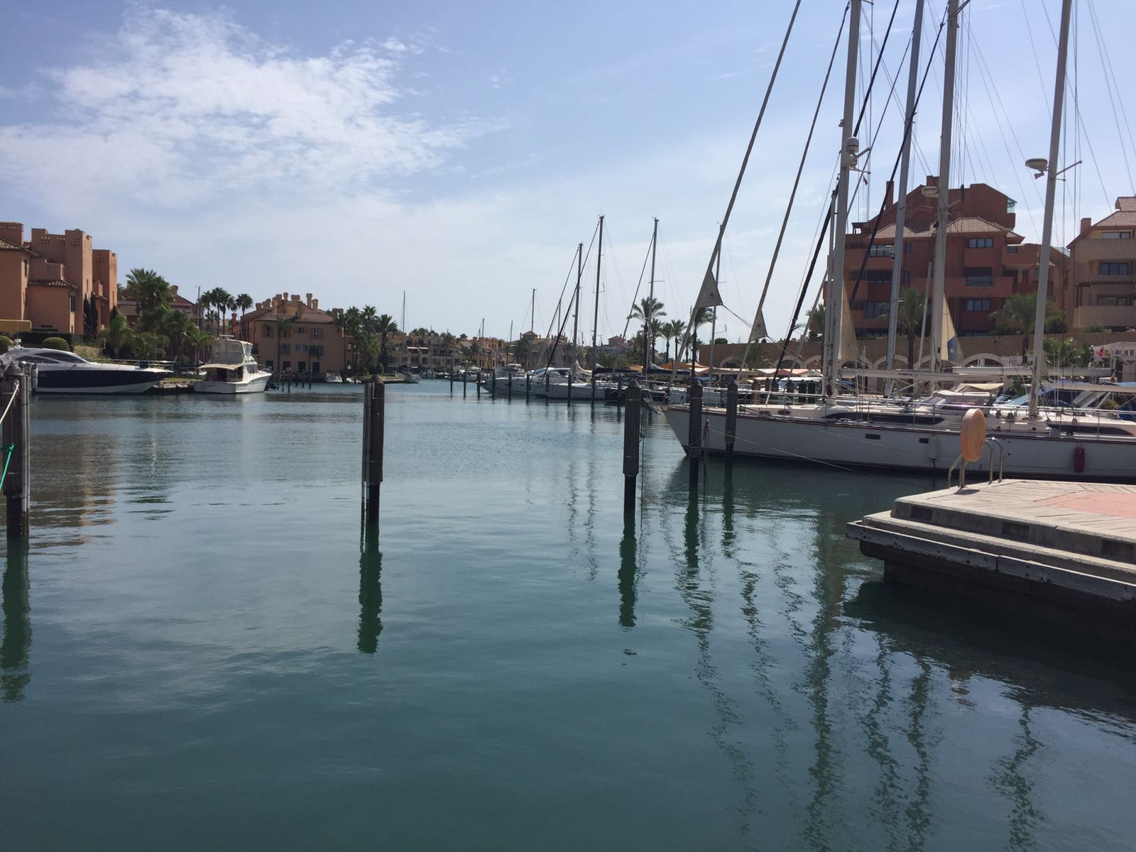 Puerto deportivo Sotogrande, where we hauled the boat out for a few days...