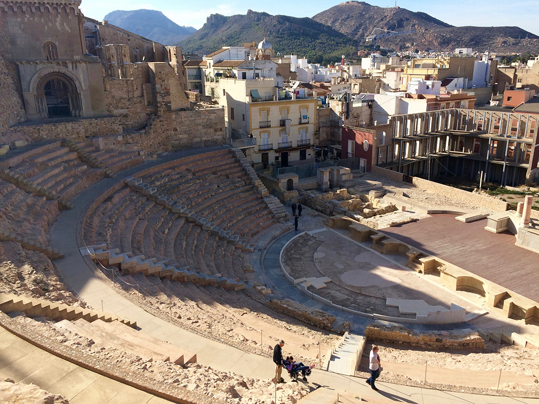 Roman theatre recently discovered in Cartagena - It had buildings built on top of it. No wonder they had no clue it was there!