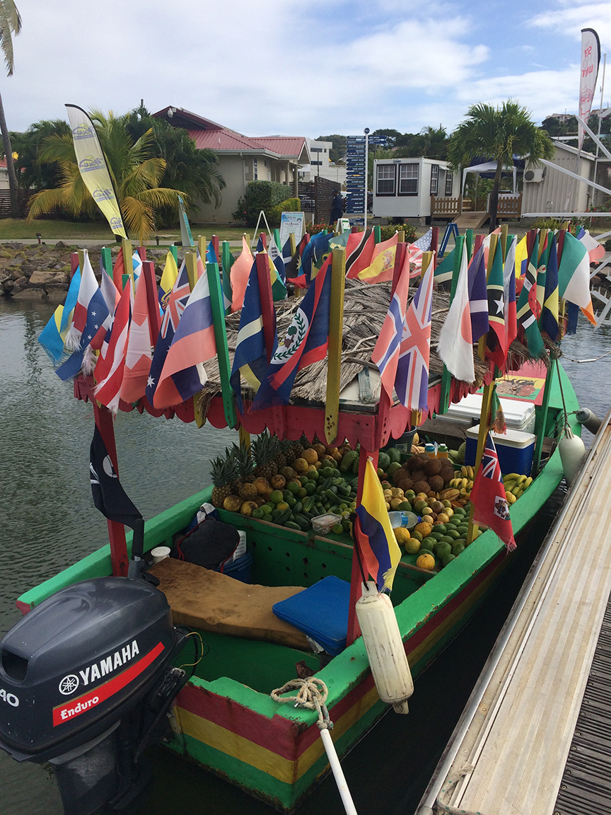 The floating market in St. Lucia