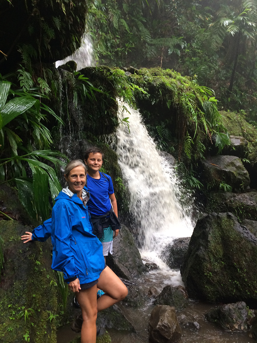 DOMINICA - roseau, rainforest hike
