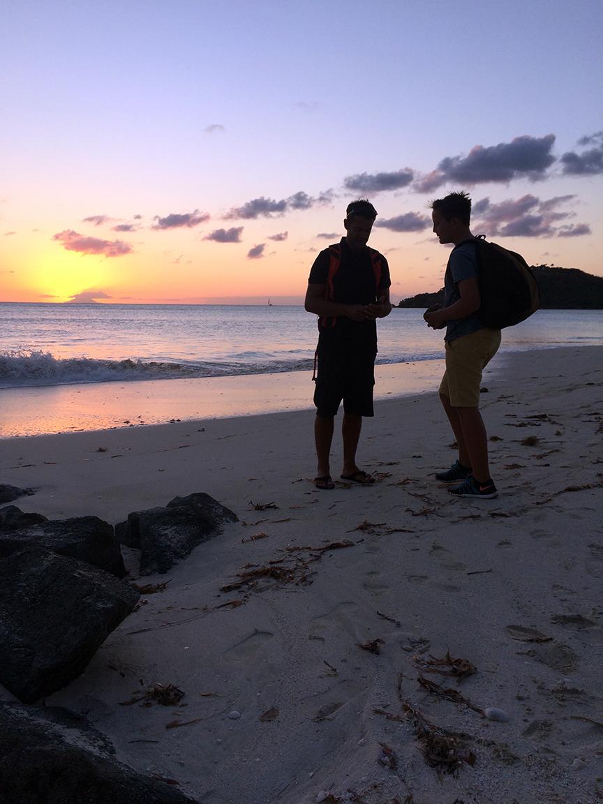 sunset in Jolly Harbor