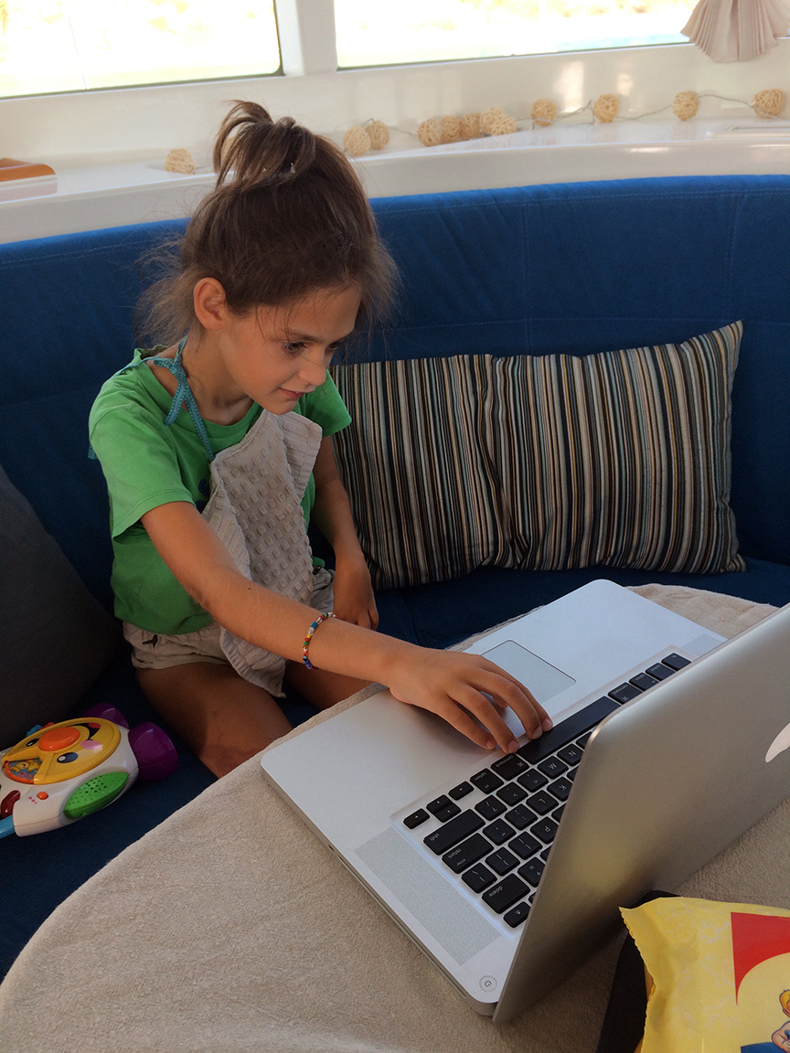 anais doing her part in editing the blog