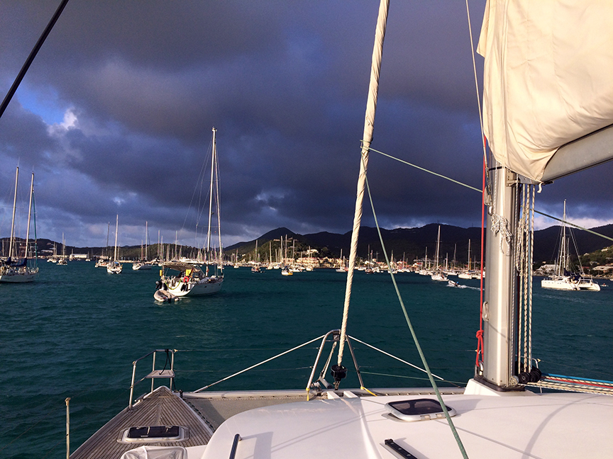 marigot bay storm approaching