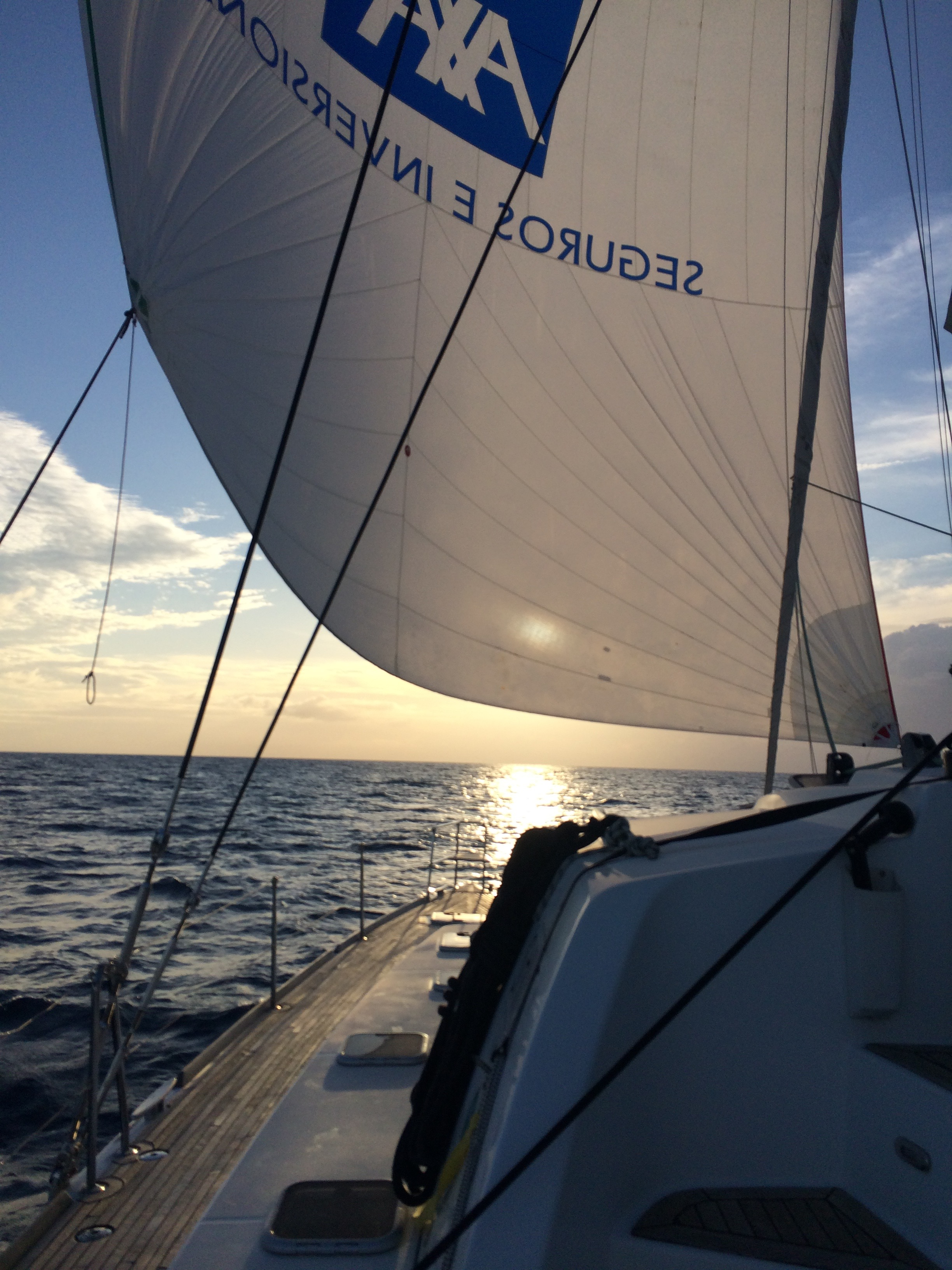 wind in our backs heading to the BVIs with the spinnaker