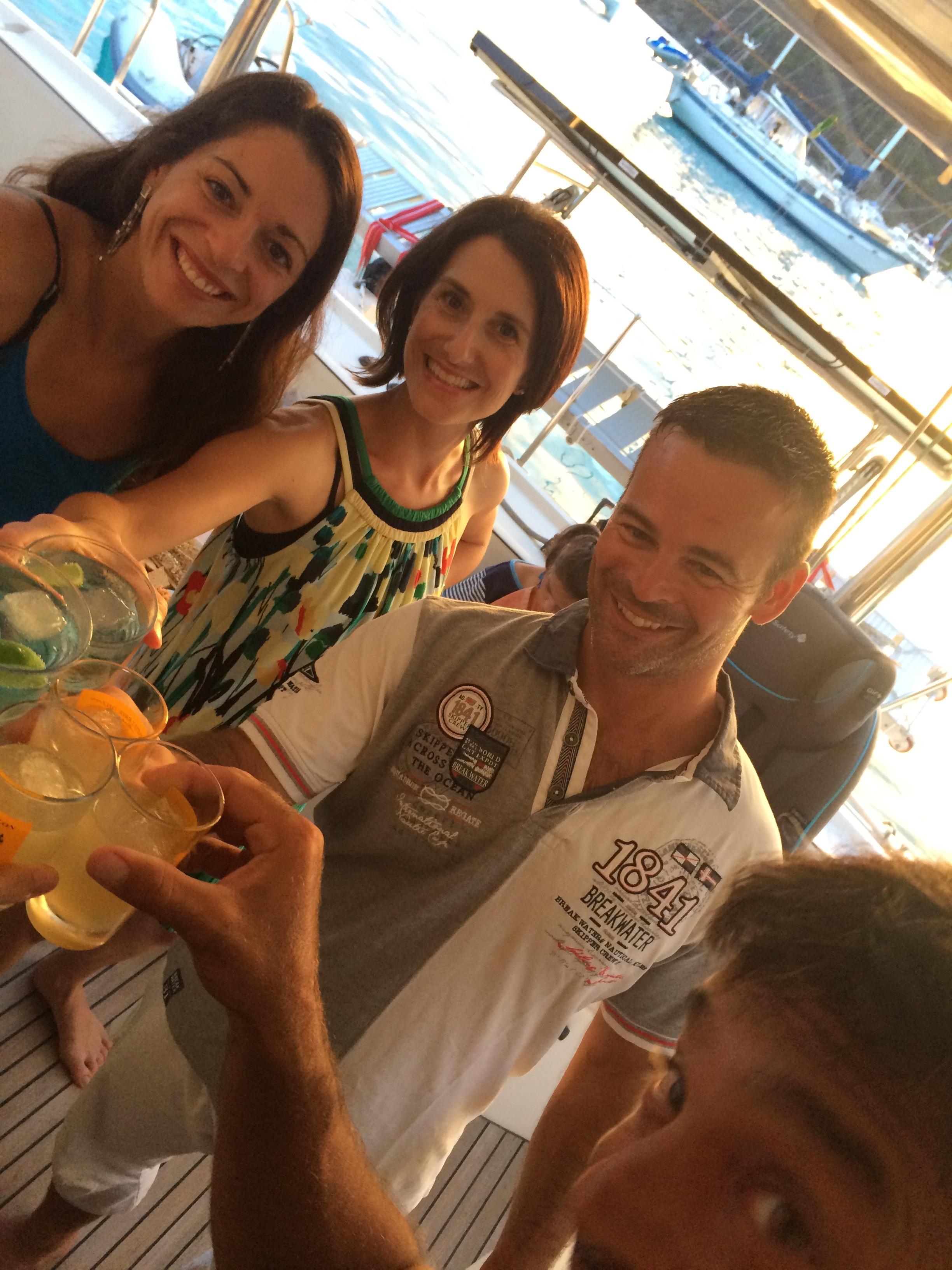 a toast to Jayana with Sounda, Nina & Silvain!