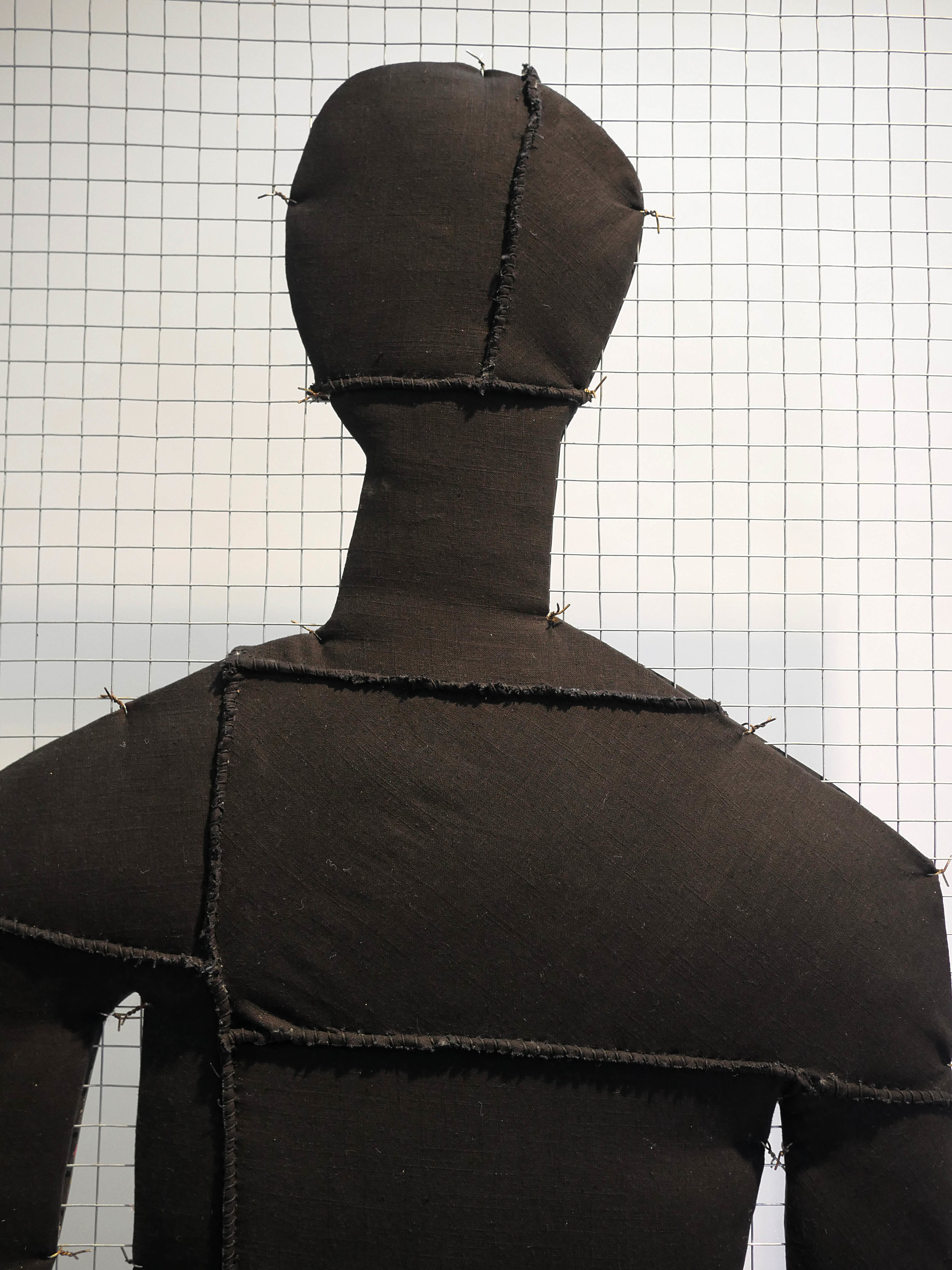 Keep the Top Eye Open, Silhouette Panel (front, detail)