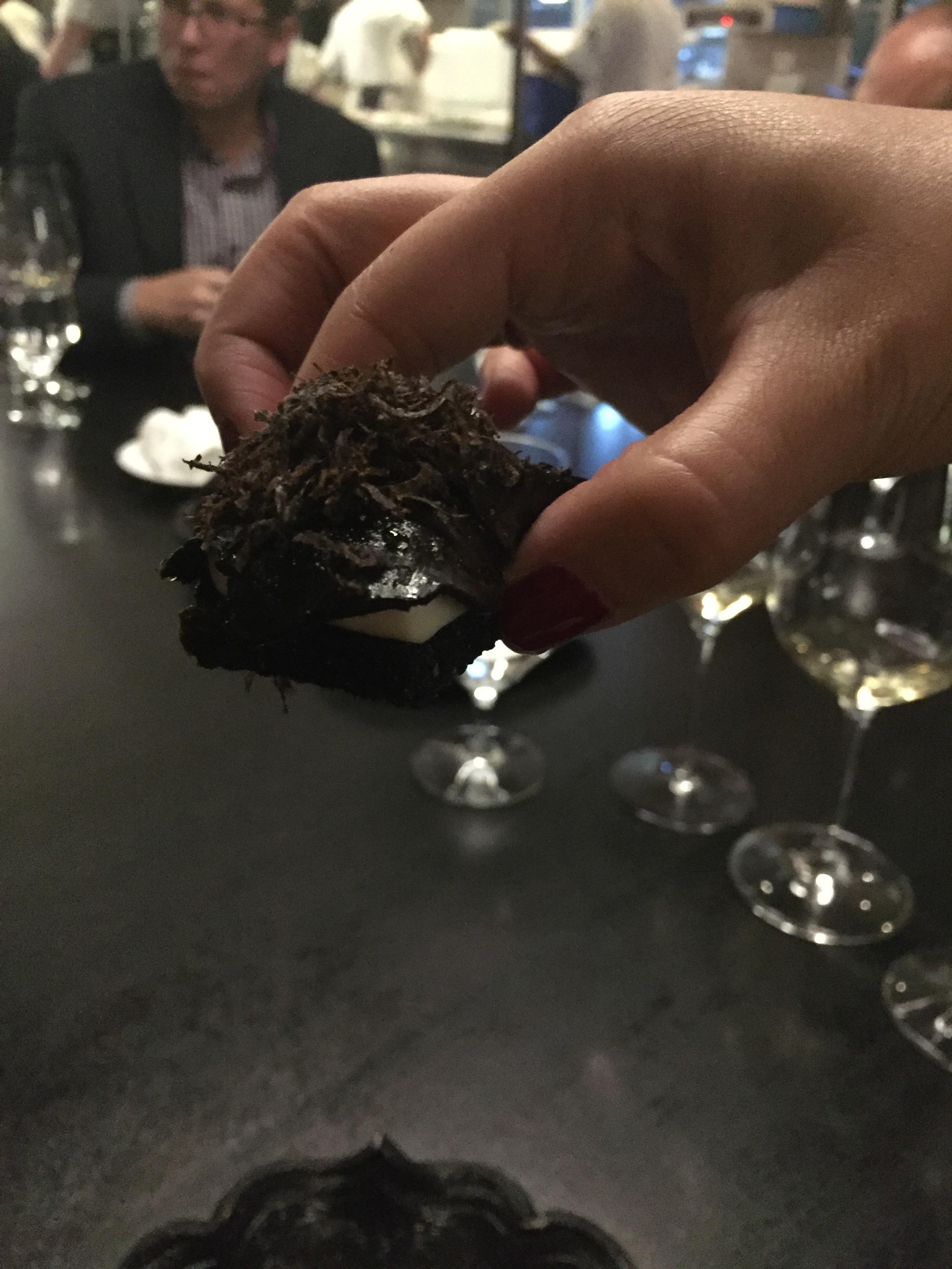 Gruyere, black truffle, pumpernickel.
