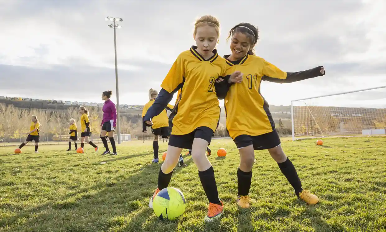 'Teachers need to support girls to pursue sports beyond the age of 14 ...' Photograph: Posed by models/Getty/Hero Images