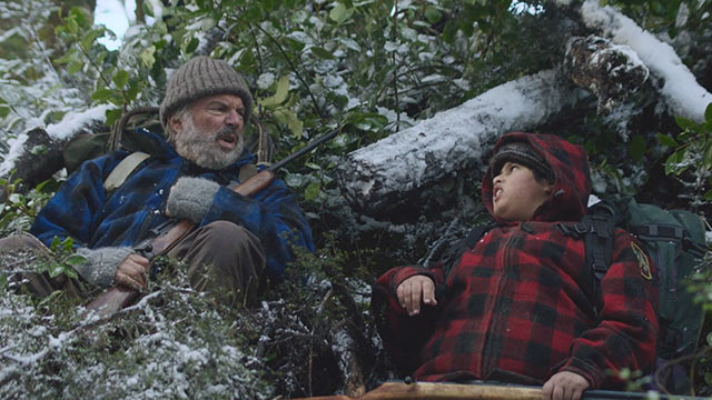 "Sam Neil and Julian Dennison star as Hec and Ricky Baker an unlikely tag-team of misfits, in Taika Waititi's ""Hunt for the Wilderpeople"""