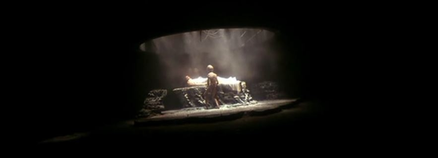 To put it bluntly, this is such a terrifying depiction of an extraterrestrial encounter that it might even be more shocking to realize that you're still watching the same film.