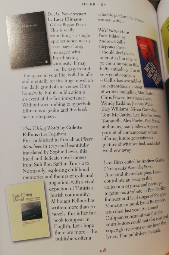 Small press, David Collard,  Idler -  issue 68, September/October 2019