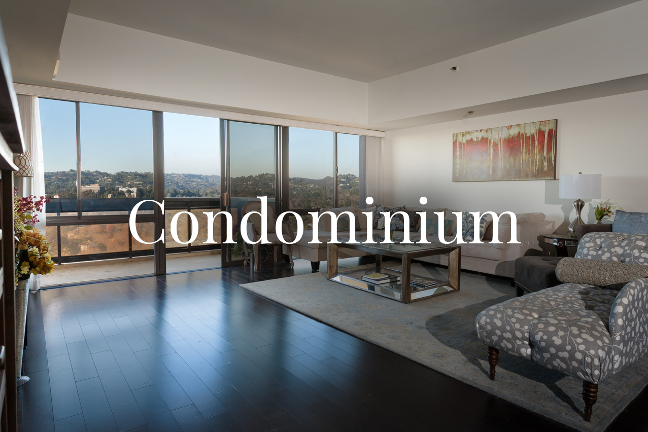 "CONDOMINIUM   Unit in a multi-unit building or complex usually paying a monthly association fee as an individual owner, in exchange for any or all of the following: maintenance of the common areas, access to amenities, property insurance coverage, utilities, or security services.  A ""Town house"" is describing a condo unit that is 2 stories in structure."
