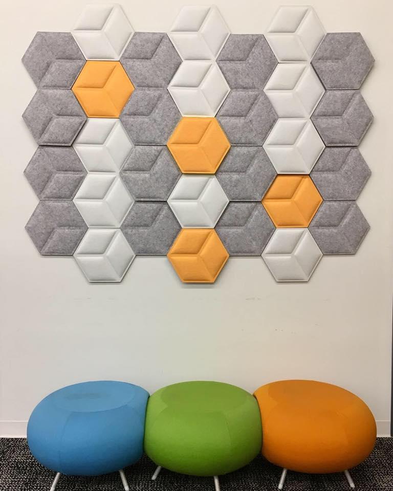 3D Hex Versatile Acoustical Tiles